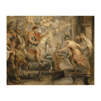 Peter Paul Rubens -Triumphant Entry of Constantine Wood Print