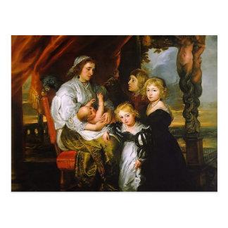 Peter Rubens- Deborah Kip, and Her Children Postcard