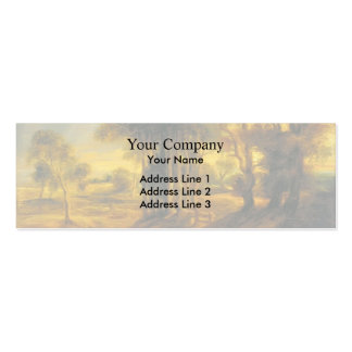 Peter Rubens-Landscape with the Carriage at Sunset Business Card Template