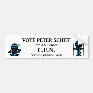 Peter Schiff, Connecticut Senate Bumper Sticker