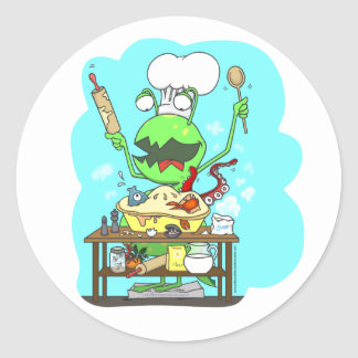 Peter & the Closet Monster, baking Classic Round Sticker