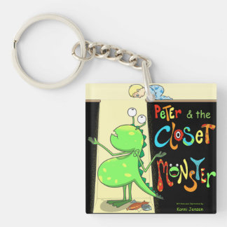Peter & the Closet Monster, cover Double-Sided Square Acrylic Keychain