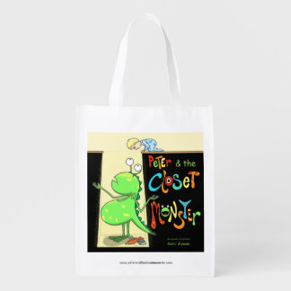 Peter & the Closet Monster, cover Reusable Grocery Bag
