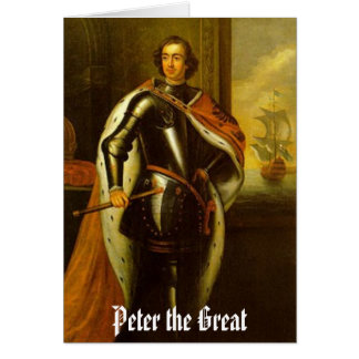 Peter the Great blank card