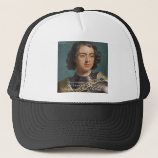 "Peter The Great ""Conquer Myself"" Quote Gifts & Tee Trucker Hat"