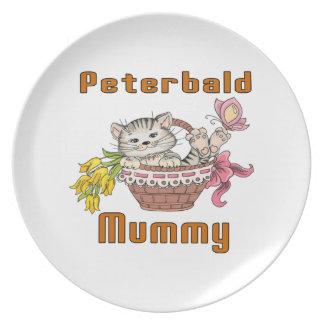 Peterbald Cat Mom Plate