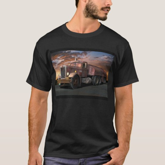 "Peterbilt ""Duel Truck"" With Trailer Tee Shirt"