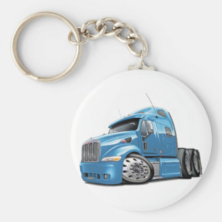 Peterbilt Lt Blue Truck Basic Round Button Keychain