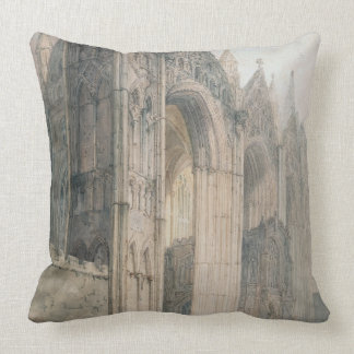 Peterborough Cathedral (w/c on paper) Throw Pillow