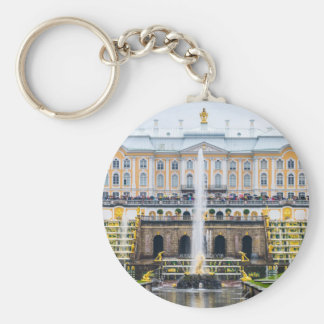 Peterhof Palace and Gardens St. Petersburg Russia Basic Round Button Keychain