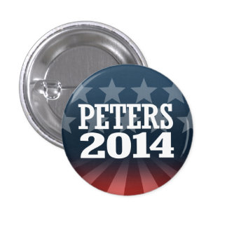 PETERS 2014 PINBACK BUTTON