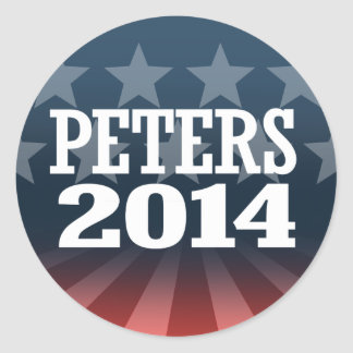 PETERS 2014 ROUND STICKERS