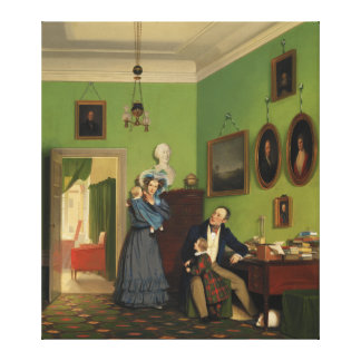 Petersen Family Balance by Wilhelm Ferdinand Bendz Canvas Print