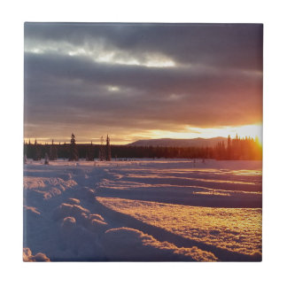 Petersville Sunset Alaskan Tile