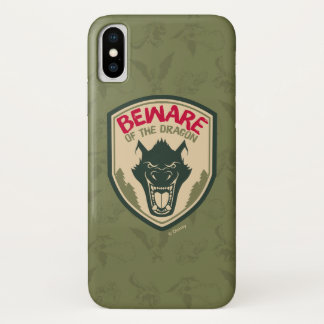 Pete's Dragon | Beware of the Dragon Badge iPhone X Case