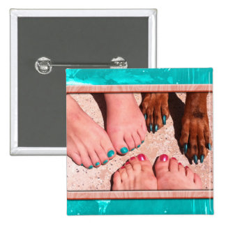 Peticure - Pedicure Spa Day 2 Inch Square Button