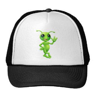 Petit alien d'homme vert casquette de camionneur
