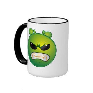 Petit alien vert frais mug ringer