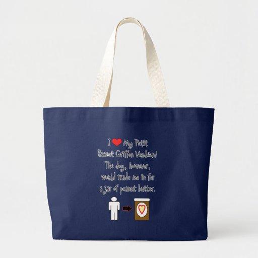 Petit Basset Griffon Vendéen Loves Peanut Butter Tote Bags