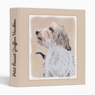 Petit Basset Griffon Vendéen Painting - Dog Art Binder