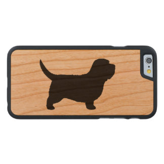 Petit Basset Griffon Vendeen Silhouette Carved Cherry iPhone 6 Case