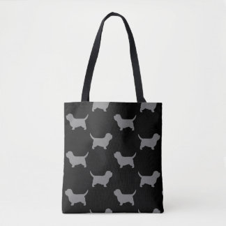 Petit Basset Griffon Vendeen Silhouettes Pattern Tote Bag