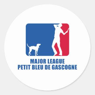 Petit Bleu de Gascogne Classic Round Sticker