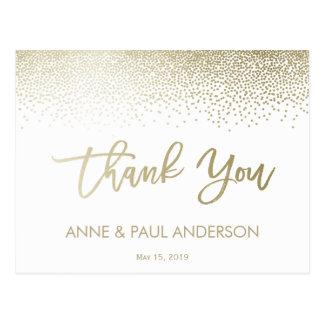 Petit carte de remerciements de confettis cartes postales
