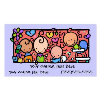 Petit carte de visite mignon de coutume de bébés