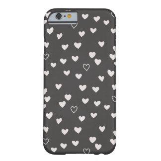 Petit cas de téléphone de coeurs - ivoire coque iPhone 6 barely there