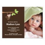 Petit faire-part de photo de naissance de bébé de carton d'invitation 10,79 cm x 13,97 cm