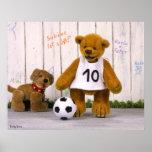 Petit footballeur de petits ours poster