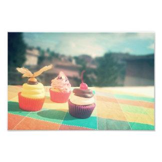 petit gâteau photo sur toile