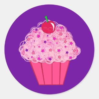 Petit gâteau autocollants ronds