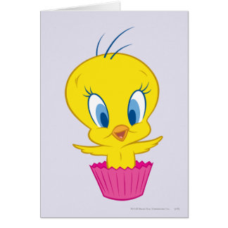 Petit gâteau de Tweety Carte De Vœux