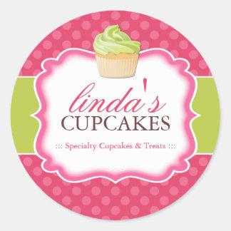 Petit gâteau et dessert - autocollants d'emballage