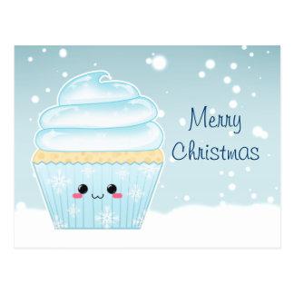 Petit gâteau mignon de flocon de neige de Noël de Carte Postale