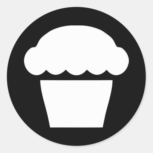 petit gâteau simple autocollant rond