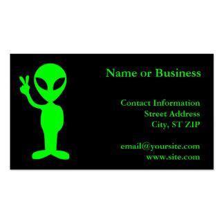 Petit homme vert carte de visite