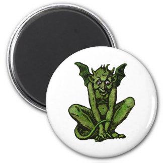 Petit homme vert moussu de lutin magnets