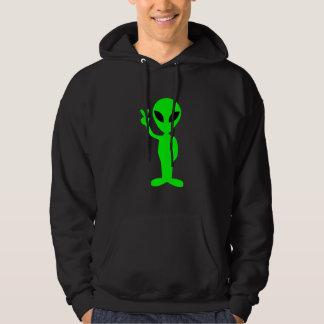 Petit homme vert sur le sweat - shirt à capuche