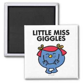 Petit lettrage noir de Mlle Giggles   Magnet Carré