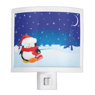 Petit pingouin mignon de Noël Veilleuses
