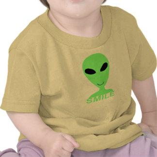 Petit T-shirt d'homme vert de sourire