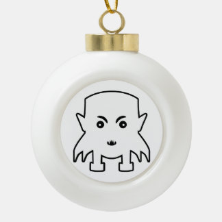 Petit Vampire Cartoon Illustration Ceramic Ball Christmas Ornament