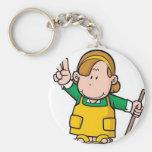 Petit vecteur de garçon porte-clef