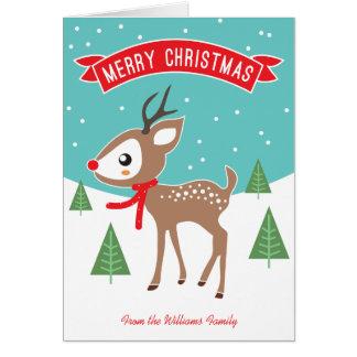 Petite carte de Noël de renne