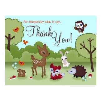Petite carte postale de Merci de créatures