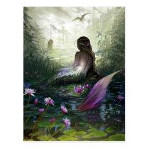 Petite carte postale de sirène