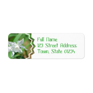 Petite étiquette postale de jonquilles de tasse étiquette d'adresse retour